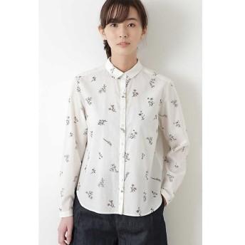 HUMAN WOMAN / ヒューマンウーマン ボタニカルプリントシャツ