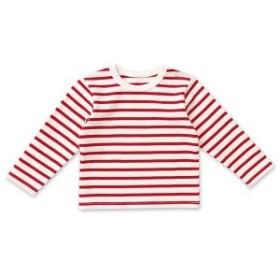 プティマイン(petit main)/エルボーパッチボーダーTシャツ