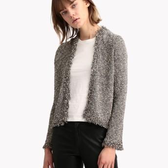 【Theory】Cocco Tweed Fringe Cardi