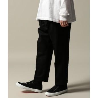 ジャーナルスタンダード GOLD / ゴールド : WOOL FLANNEL SLIM 2TUCK PANTS メンズ ブラック M 【JOURNAL STANDARD】