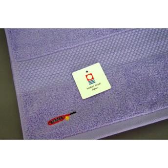 テニスラケット刺繍のフェイスタオル