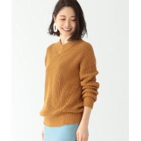 Demi-Luxe BEAMS / アゼ Vネック プルオーバー レディース ニット・セーター BISCUITS ONE SIZE