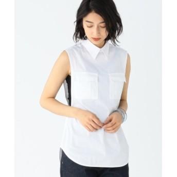 【VERY5月号掲載】CINOH / 2ポケット ノースリーブシャツ レディース ブラウス・プルオーバー WHITE 38