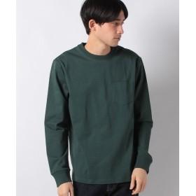 【25%OFF】 コムサイズム ポケット付 長袖 Tシャツ メンズ グリーン M 【COMME CA ISM】 【セール開催中】