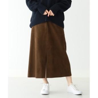 Demi-Luxe BEAMS 【Oggi12月号掲載】Demi-Luxe BEAMS / エコスエードスカート レディース その他スカート BROWN 38