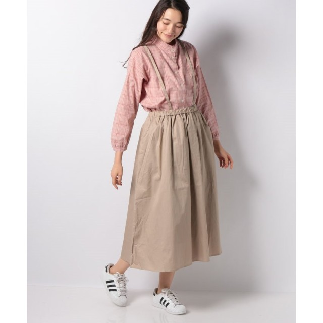 【66%OFF】 サマンサ モスモス サス付ギャザースカート レディース ベージュ F 【Samansa Mos2】 【セール開催中】