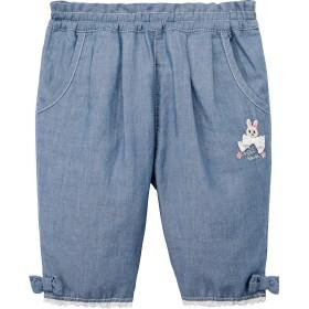 ミキハウス うさこ7分丈パンツ ブルー