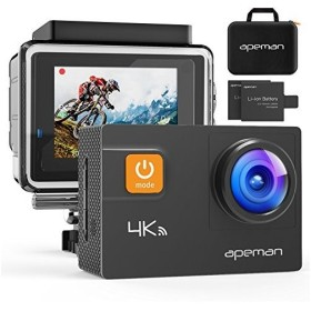アクションカメラ 4K WIFI搭載 2000万画素 UHD 2インチLCD 画角調整可170度広角 30m防水 手ブレ補正 HDMI出力 スポーツカメラ バイク/自転車/車に取り付け可能