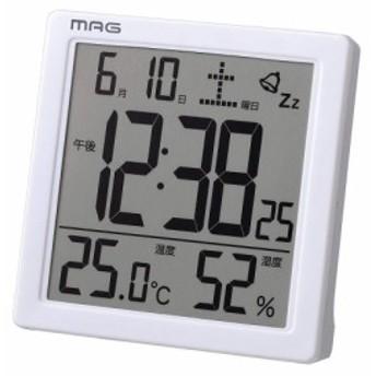 MAG(マグ) デジタル置き時計 カッシーニ ホワイト T-726 WH-Z インテリア 置物・掛け時計