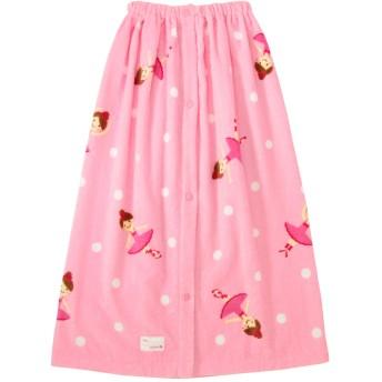ミキハウス 踊るリーナちゃん ホックボタン付きビーチタオル ピンク