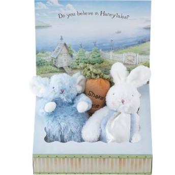 ベビー ギフト 送料無料 バニーズバイザベイ にぎにぎトイ 雪うさぎの赤ちゃん にんじんラトル ギフトBOXセット(ブルー)