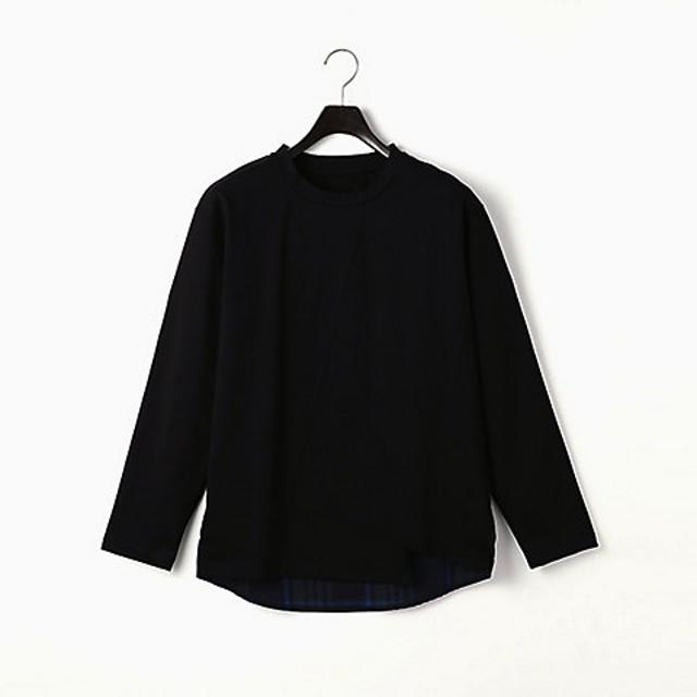 【SALE(伊勢丹)】<β MEN> ビックチェック コンビネーションTシャツ(2727TL02) クロ【三越・伊勢丹/公式】