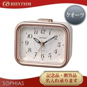 リズム時計 RHYTHM クロック スタンダード ジャプレフルール ピンク クオーツ 目覚まし時計 8RA644SR13