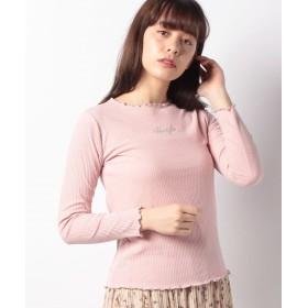 【34%OFF】 レトロガール メロウロゴ刺繍カット レディース ライトピンク M 【RETRO GIRL】 【セール開催中】
