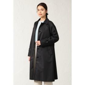 SANYO COAT ◆◆<Spring Coat>ダブルクロス先染めツイルステンカラーコート ステンカラーコート,ブラック