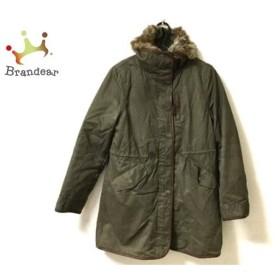 ヒューマンウーマン HUMAN WOMAN コート サイズ2 M レディース ダークグリーン 冬物   スペシャル特価 20190910