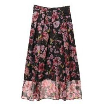 31 Sons de mode トランテアン ソン ドゥ モード エアリー花柄スカート