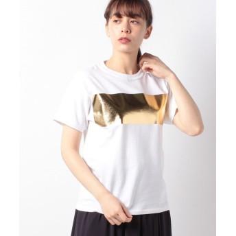 アルアバイル ホイルボーダーTシャツ レディース ゴールド 02 【allureville】