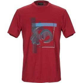 《期間限定セール開催中!》EMPORIO ARMANI メンズ T シャツ ボルドー S コットン 100%