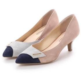 アンタイトル シューズ UNTITLED shoes コンビカラーパンプス (ライトベージュスエードコンビ)
