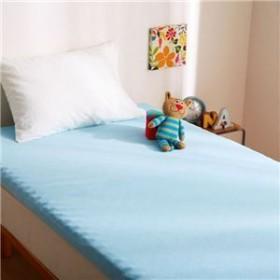 5000円以上送料無料 リバーシブルウレタンマットレス 【シングル ブルー】 洗える カバー付き 通気性抜群 体重分散/体圧分散 ベッド対応