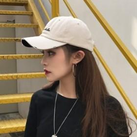 キャップ 帽子 ベースボールキャップ カジュアル シンプル レディース メンズ 刺繍