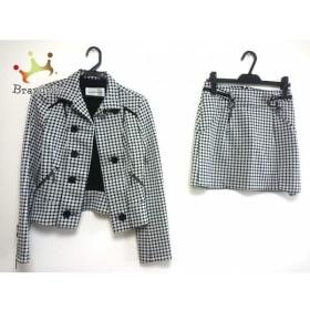 ピンキー&ダイアン Pinky&Dianne スカートスーツ サイズ38 M レディース 白×黒 ドット柄     スペシャル特価 20190811