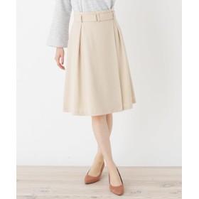 index(インデックス) 【洗える】ラップサッシュフレアスカート