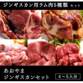 あおやまジンギスカンセット(特製ラム肉ジンギスカン・生ラムジンギスカン・みそジンギスカン・塩ジンギスカン・ラムタン)