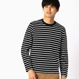 <COMME CA ISM (メンズ)> ボーダーTシャツ(4765TL03) ブラック 【三越・伊勢丹/公式】
