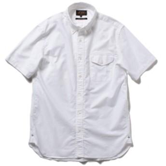BEAMS PLUS / 半袖 ボタンダウンシャツ メンズ カジュアルシャツ WHITE M