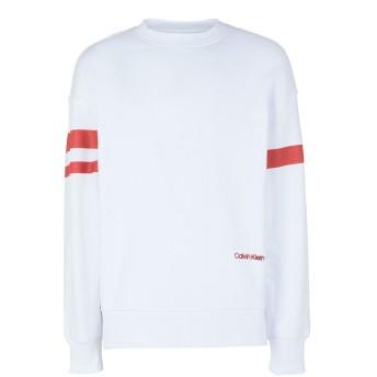 《セール開催中》CALVIN KLEIN メンズ スウェットシャツ ホワイト S コットン 100%
