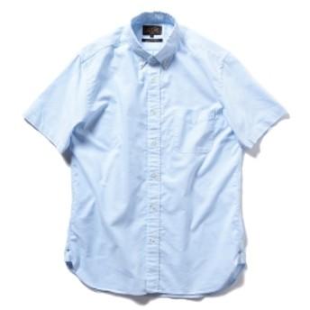 BEAMS PLUS / COOLMAX(R) ボタンダウン 半袖シャツ メンズ カジュアルシャツ BLUE XL