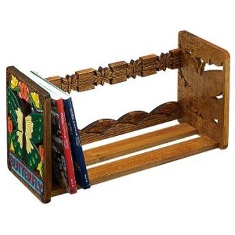 実用本立てA (無地 ブックスタンド 卓上 木彫 木製 整理用品 小物入れ 木工 小学校 教材 教室 小