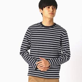<COMME CA ISM (メンズ)> ボーダーTシャツ(4765TL03) ネイビー 【三越・伊勢丹/公式】