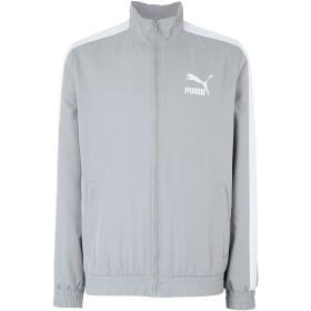 《セール開催中》PUMA メンズ ブルゾン グレー S ポリエステル 100% Iconic T7 Track Jacket