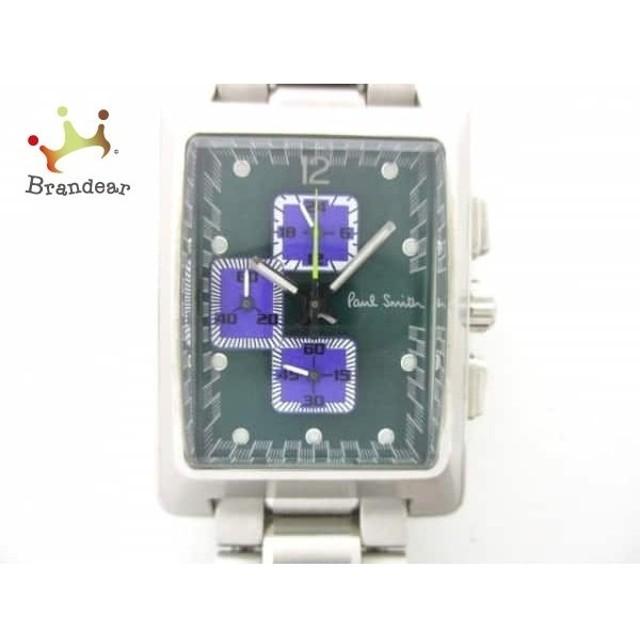 79833b29ad ポールスミス PaulSmith 腕時計 美品 F511-S055415 メンズ グリーン×パープル スペシャル特価 20190528