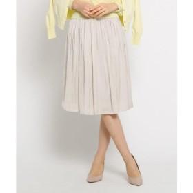 SunaUna / スーナウーナ 【洗える】アンピクシスサテンスカート