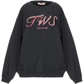 《期間限定セール開催中!》TWINSET レディース スウェットシャツ ブラック XS コットン 100% / ポリエステル / ポリウレタン / ナイロン