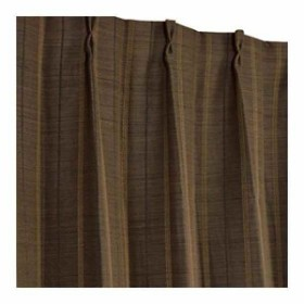 遮光 形状記憶加工カーテン ストレート 2枚組 100×178cm[43201-25662](ブラウン, 100×178cm(2枚組))