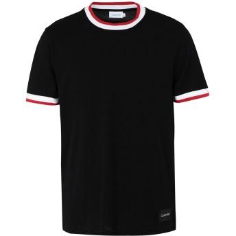 《期間限定セール開催中!》CALVIN KLEIN メンズ T シャツ ブラック M コットン 100%
