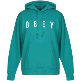《期間限定 セール開催中》OBEY メンズ スウェットシャツ ライトグリーン S コットン 80% / ポリエステル 20%
