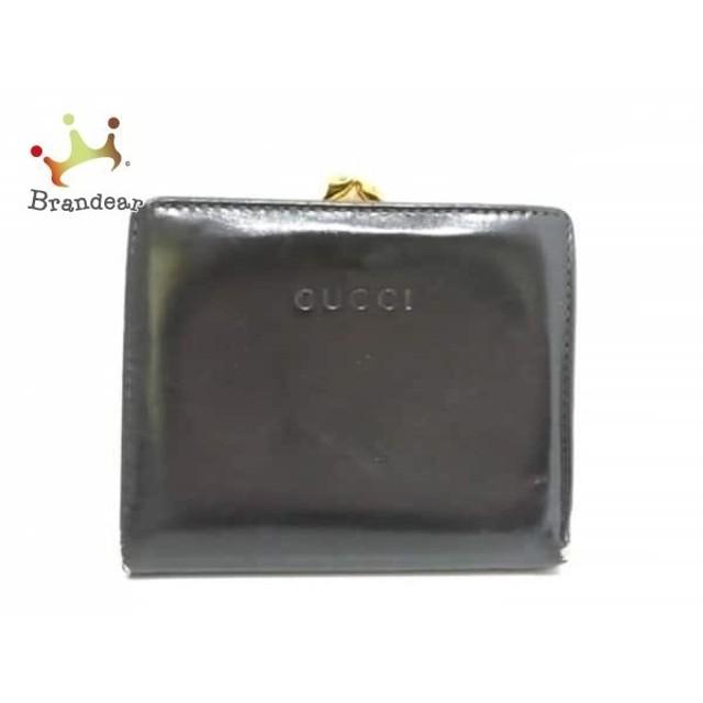 636c762e99e7 グッチ GUCCI 2つ折り財布 - - 黒 がま口 レザー スペシャル特価 20190516