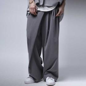 ボトムス パンツ ワイド アシンメトリー タックワイドパンツ・6月29日20時〜再販。##メール便不可