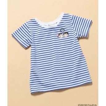 ロペピクニック キッズ/【ROPE' PICNIC KIDS】【milky】ペコポコボーダーTシャツ/ブルー/110