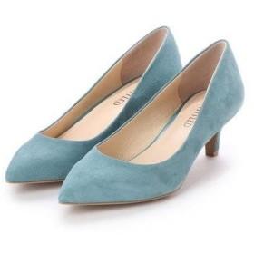 アンタイトル シューズ UNTITLED shoes ポインテッドパンプス (ライトピーコックグリーンスエード)