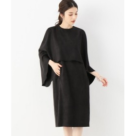 VERMEIL par iena 【ROOM NO.8/ルームエイト】BLACK F/SUEDE SHAWL ドレス◆ ブラック XS