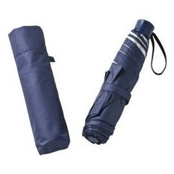 UV晴雨兼用耐風式軽量ミニ傘 ネイビー 6337