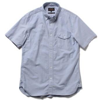BEAMS PLUS / 半袖 ボタンダウンシャツ メンズ カジュアルシャツ SAX M