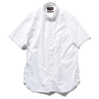 BEAMS PLUS / COOLMAX(R) ボタンダウン 半袖シャツ メンズ カジュアルシャツ WHITE XL